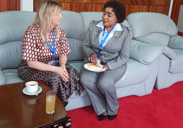 A brief exchange of notes after the Technical Organs Meeting in Lusaka Zambia