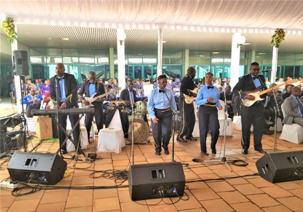 Members of the Zimbabwe Police Band entertaining guests at the centre of excellence