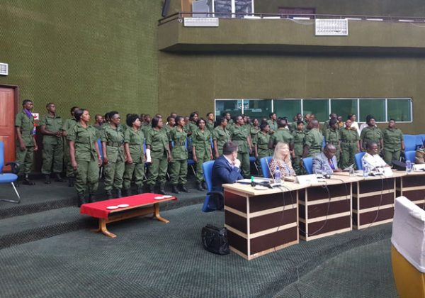 The Zambia Police Choir belting out another song