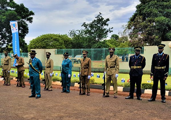 Guard of honor awaiting the Chairman's arrival